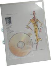 EXXO-HFP - A4 Insteekmap L-model m/CD houder - Extra sterk  180 mμ -Kleurloos -10 Pak @ 10 st.