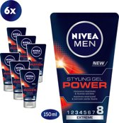 NIVEA MEN Power Styling Gel 6 x 150 ml