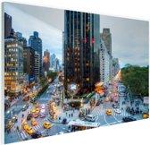 Broadway en Central Park West Glas 30x20 cm - klein - Foto print op Glas (Plexiglas wanddecoratie)