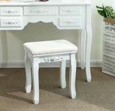 Kruk   Make-up tafel   Wit   Polyester   37 x 28 x 45