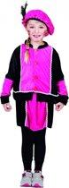 Fuchsia Pieten jurkje voor meisjes 4-6 jaar