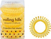 Rolling Hills 5 traceless hair elastics transparent yellow