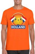 Oranje Nederland kampioen t-shirt heren - Oranje Holland supporter kleding XL