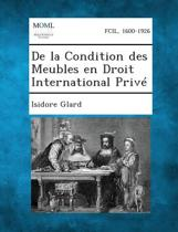 de La Condition Des Meubles En Droit International Prive