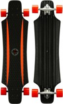 Nijdam Longboard 36 Inch X-flex Zwart / Rood