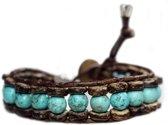 Armband B8 - - kokos - leer