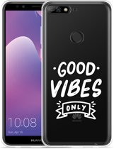 Honor 7C hoesje Good Vibes wit
