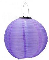 Gekleurde solar lampion 30 cm  paars
