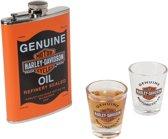 Harley-Davidson Oil Can Heupfles En Shot Glaasje Set