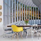 Fotobehang Forest 3D Modern Architecture View | V4 - 254cm x 184cm | 130gr/m2 Vlies