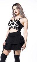 Momoko jurkje met pentagram crop top en jarretels rok zwart - Gothic/metal, Occult/rock - XL - Heartless