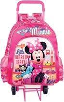 Minnie - Rugzaktrolley - Kinderen - Roze/Paars