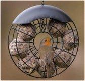 D'nut Mezenbollenhouder - Vogelvoederhuisje - Zwart - 20 cm x 20 cm x 35 cm