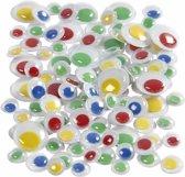 Wiebel oogjes met gekleurde pupillen 30 stuks - Zelfklevende wiebeloogjes