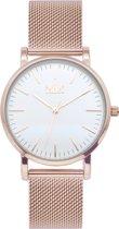 IKKI JAMY JM15 Horloge - Rose gold/wit