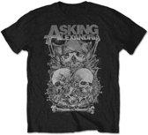 Asking Alexandria - Skull Stack heren unisex T-shirt zwart - S