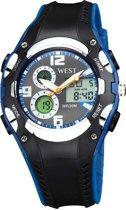 West Watch - multifunctioneel klassiek tiener horloge - Model Sky - blauw/zwart