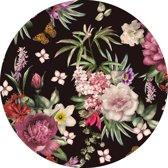 vloervinyl rond | Flower power | 100cm