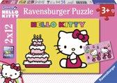 Ravensburger 2 Puzzels Hello Kitty viert verjaardag