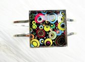 2 Love it RetroCirkel C - Armband - scharniersysteem - Multicolor