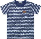 DJ Dutchjeans Jongens T-shirt - Blue + aop - Maat 152