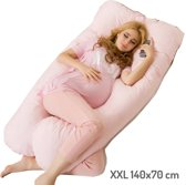 Zwangerschapskussen XXL - Roze