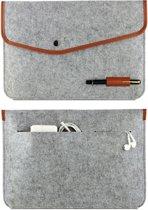 "DVSE |Laptop 15.6 Inch Soft Sleeve - 15.6"" Case 29cm x 43cm - Beschermende Hoes - Licht Grijs"