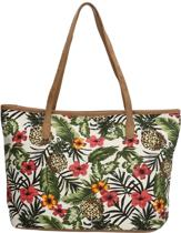 Beagles Zomer Ananas Jungle Schoudertas Shopper Strandtas Trendy Canvas