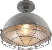 QAZQA course - Plafondlamp - 1 lichts - Ø 310 mm - Zilver