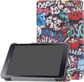 3-Vouw sleepcover hoes - Samsung Galaxy Tab A 8.0 inch (2019) - Graffiti