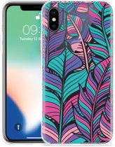 Apple iPhone Xs Max Hoesje Design Feathers