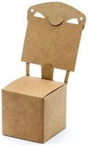 """""""Boxes Stoel, kraft, 5x5x5cm (1 zakje met 10 stuks)"""""""