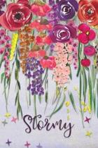 Stormy: Personalized Lined Journal - Colorful Floral Waterfall (Customized Name Gifts)