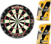 Dragon darts - Green startersset - Winmau pro sfb - dartbord - plus 2 sets Harrows - dartpijlen