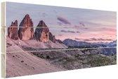 Panoramafoto Dolomieten Zuid-Tirol Hout 120x80 cm - Foto print op Hout (Wanddecoratie)