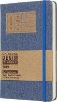 Moleskine agenda 2019 - 12 maanden - Dagelijks - Denim - Large - Hard cover