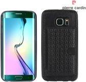 Pierre Cardin Backcover hoesje Zwart - Stijlvol - Leer - Galaxy S6 Edge  - Luxe cover