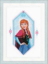 Borduurpakket Princess Anna Frozen met telpatroon