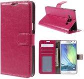 Cyclone wallet hoesje Samsung Galaxy A3 2015 roze
