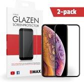 2-pack BMAX iPhone XS Screenprotector Full Cover Glas | Dekt het volledige scherm! | Beschermglas | Tempered Glass
