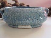 Brynxz schaal/pot, Vintage blauw 32 x 18 x 12 cm