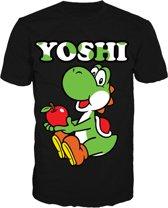 Nintendo - Black. Yoshi Mens T-Shirt - Xl