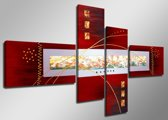 Mistique - Canvas Schilderij Vierluik 160 x 70 cm