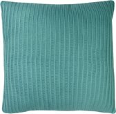 Home Delight Everglades Knitted - Sierkussen - 60x60cm - Petrol