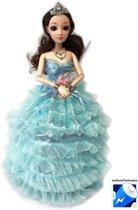 Little Dancing Princess - Dansende prinsesje met lichtjes en muziek frozen pop- blauw (incl. batterijen)