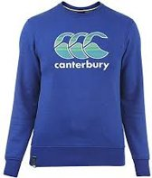 CANTERBURY CCC GRAPHIC LOGO CREW SWEAT - S - SPORT BLUE MARL