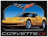Corvette C6, Metalen wandbord 31.5x41.5cm
