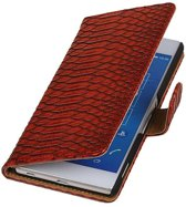 Wicked Narwal | Snake bookstyle / book case/ wallet case Hoes voor sony Xperia Z4 Z3+ Rood