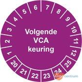 Keuringssticker Volgende VCA keuring  Ø 30 mm - 25 stickers