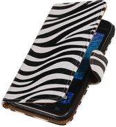 Zebra Hoesje Samsung Galaxy J1 2015 - Book Case Wallet Cover Hoes